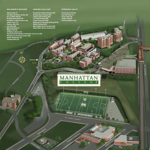 Campus trường đại học Manhattan College